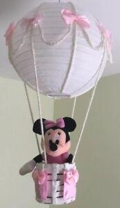 Minnie Mouse Hot Air Balloon Nursery Light Shade Lovely Pink Theme