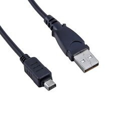 USB Charger+PC Data Cable Cord for Olympus Stylus Tough 8000 9000 MJ u8000 u9000