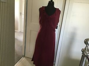 Laura Ashley Silk Dress Size 14 Mulberry