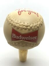 "Vintage Budweiser Softball ""This Bud's For You"" Beer Tap Handle"