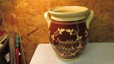 Antique Catholic Pottery Yellow Ware Vase