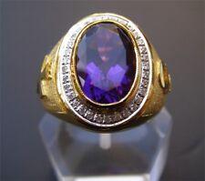 Bishop 18K Gold Pastoral Amethyst Diamond Ring