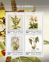 Djibouti Orchids Stamps 2018 MNH Oncidium Orchid Flowers Plants Nature 4v M/S