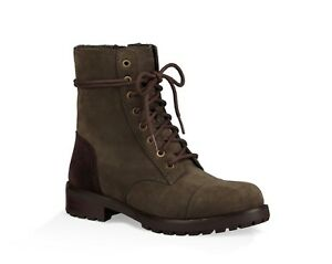 UGG® Kilmer Women's Size 6.5M Water Resistant Slate Leather Wool Combat Boots