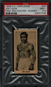 1938 F.C. CARTLEDGE GLOSSY #30 JOE LOUIS PSA 7.5 NM+ POP 4 FAMOUS PRIZE FIGHTERS