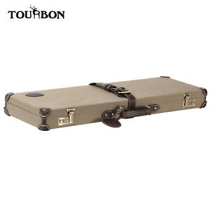 """Tourbon Gun Case Box Safe Storage Shotgun Lockable Hard Case Cabinet 32"""" Barrel"""