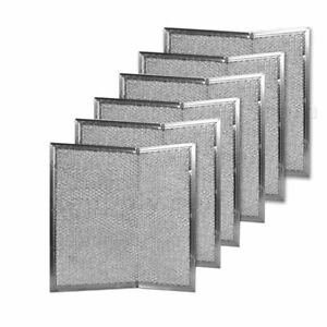 """Aluminum Range Hood Filter - 11""""  X 11-5/8"""" X 3/32"""" with bend,  6-Pack"""