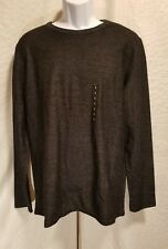New MARC ANTHONY Men's Size L Large Black Long Sleeve Crew Slim Fit Knit Top