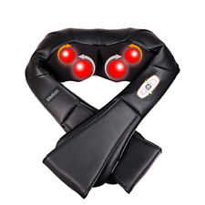 Shiatsu Back Neck Massager with Heat - 3D Deep Tissue Full Body Kneading Massage