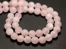 10pc - Perles de Pierre - Quartz Rose Mat sablé givré Boules 8mm - 4558550019158