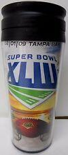 Super Bowl XLIII 2009 Cardinals vs. Tampa Bay 7½ x 3½ insulated travel tumbler