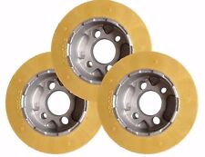 RO10 Rubber Power Feeder Wheels (Set of 3) - 100 x 50mm