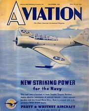 1938 Aviation December-Boeing Clipper; Vultee V12 Attack Bomber; 3 cent air mail