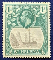 1922 ST. HELENA STAMP 1D #80 MINT HINGED