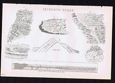 Intrusive Rocks - Trotternish Ridge-Isle of Skye-Scotland  -1880s Science Print