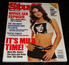 STUFF magazine 2003, Mila Kunis, Tessie Santiago, Kylie Bax, Rodney Dangerfield