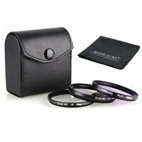 RISE(UK) 49mm Filter Kit  CPL FLD UV for all Digital Cameras Lens +case