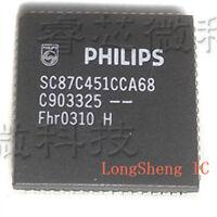 1PCS  SC87C451CCA68 SC87C451 PLCC68 new