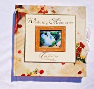WEDDING MEMORIES BOOK Photo Album Celebrating Cherished Moments Memory SCRAPBOOK