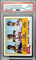2018 Topps Archives RC OZZIE ALBIES & RONALD ACUNA Rookie Card PSA 10 GEM MINT