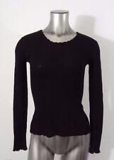 Armani Exchange women's light weight knit top blouse black S