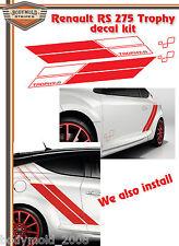 Megan RS  275 Trophy  decal / stripe kit