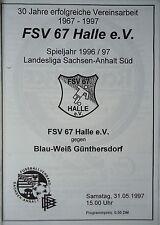 Programm 1996/97 FSV 67 Halle - BW Günthersdorf