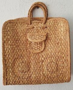 Handmade Woven Braided Straw Tote  Bag Purse Handbag  Beach Bag