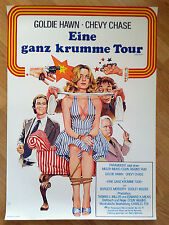 GOLDIE HAWN  rare German 1 sheet 1978 FOUL PLAY Chevy Chase DUDLEY MOORE Peltzer