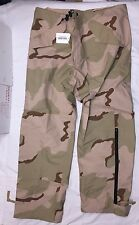 US Military ECWCS Trousers Gore-Tex Taped Seam Desert Camo Sz Large RegulaR NEW