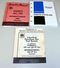 SET INTERNATIONAL FARMALL 560 TRACTOR OPERATOR PARTS LP GAS MANUAL CATALOG