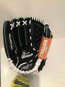 """RAWLINGS 11 1/2"""" FASTPITCH SOFTBALL GLOVE Left Hand Throw Leather Palm WFP115MT"""
