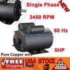5+HP+SPL+3450+RPM+Air+Compressor+60+Hz+Electric+Motor+208-230+Volts+56+Frame+USA
