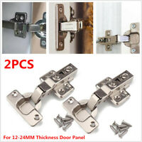 2PC RV Cabinet Cupboard Door Self Closing Half Overlay Concealed Hinges Hardware