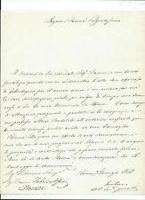 Lettera con Autografo Cardinale Ugo Pietro Spinola Roma a Firenze Moti Savigno