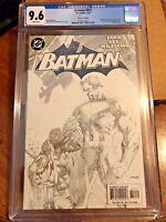 BATMAN 612 2nd Print CGC Graded 9.6 JIM LEE Sketch Cover Superman Hush Pt 5