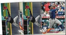 RONALD ACUNA JR  2018 TOPPS UPDATE ROOKIE CARD WITH ROOKIE DEBUT ROOKIE