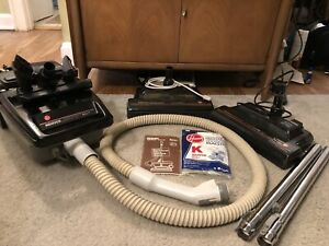 Vintage Hoover Spirit Canister Vacuum Model S3487 with 2 Powermatic Nozzles