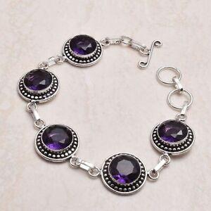Amethyst Ethnic Handmade Bracelet Jewelry 20 Gms  AB 81604