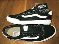 Vans Mens Chima Ferguson Pro 2 Canvas Black White Striped Skate Shoes Size 11.5