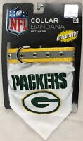 Green Bay Packers Reflective large Collar Bandana Dog Pet Wear