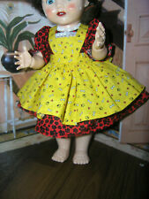 """New 3 pc Dress Apron Set Doll clothes fits 16"""" Ideal Saucy Walker or Pedigree"""