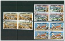 REPUBLIQUE DE DJIBOUTI 1978 AIR DJIBOUTI AERO CLUB BLOCKS OF 4 VERY FINE USED