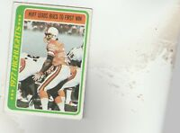 FREE SHIPPING-NRMINT TO VG-1978 Topps  #1 Gary Huff BUCCANEERS