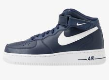 Nike AIR Force uomo colore azzurro, scarpa con chiusura stringata e lacci