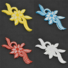 5 Pcs Sequined Flower Embroidered Patch Applique Sew Iron on Badge Bags Hat Cap