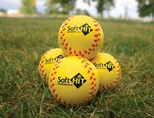Soft Hit Practice Softballs Pitch Pitching Training Aid Equiptment 6 Pack
