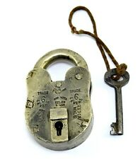 Genuine Antique Old Beautiful Rare Crafted Brass Padlock Collectible. i42-18