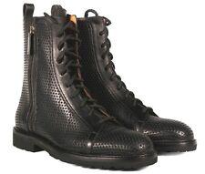 A.Testoni Men black leather boots 9 US (8 UK) NEW
