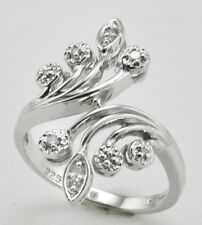 .925 Sterling Silver TW 0.10ct Diamond Ring Size 7